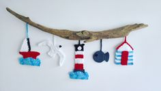 Add a touch of the seaside to your home with this amazing coastal wall hanging by Coastal Crochet. It will make any room feel like a beach hut and they are so much fun to make! Crochet Boat, Nautical Crochet, Crochet Wall Art, Beach Crochet, Crochet Wall Hangings, Free Crochet, Crochet Garland, Crochet Decoration, Yarn Bombing