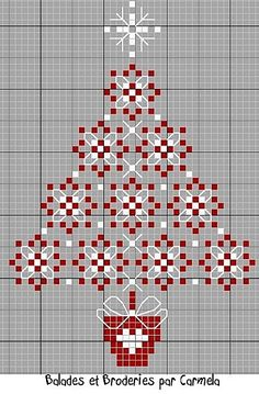 DIY:  Christmas Tree Cross Stitch....free pattern