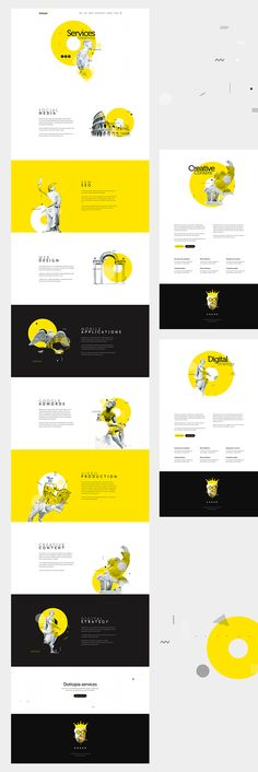 Dottopia web design UX/UI - Showcase and discover creative work on the world's leading online platform for creative industries. Web Design Grid, Web Design Mobile, Web Design Tips, Web Design Services, Ui Ux Design, Logo Design, User Interface Design, Clean Web Design, Design Ideas