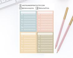 Stylish and Elegant Planner Stickers by MistrunnerPrints Personal Planners, Mini Hands, Weekly Planner, Planner Stickers, How To Draw Hands, Etsy Seller, Icons, Kit, Minis