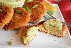 Creole Contessa: Mini Salmon Croquettes with Creamy Avocado Sauce