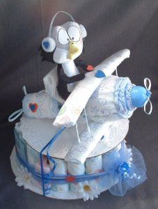 Amazon.com: DIAPER AIRPLANE Baby Shower Gift Boy Diaper Cake Decorations: Everything Else