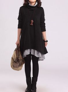Cotton dress casual loose dress large size by PerfectChlothing, $64.90
