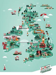 Heystudio.es Map of Britain for San Miguel:
