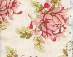 100% cotton fabric Painted Mums by Heathe Bailey Westmi Fibers 36 x 42 yard