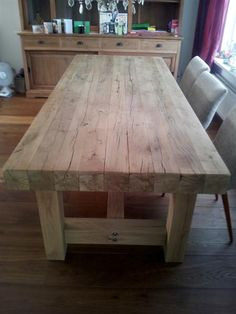 Farmhouse table top decor farm house 63 new ideas Dinning Room Tables, Diy Dining Table, Diy Farmhouse Table, Rustic Table, Patio Table, Farmhouse Furniture, Rustic Furniture, Diy Furniture, Farm Tables