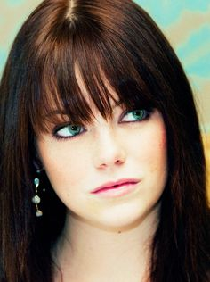 Emma Stone. Lucky girl can wear any hair colour. Brunette, red, blonde