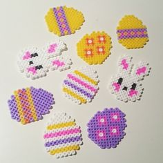 Easter ornaments hama beads by larseneirin