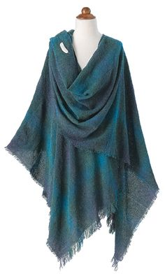 Celtic Holiday - Lambswool Ruana - $175.00 - at Gaelsong.com - Now if I wasn't allergic to wool this would be perfect!