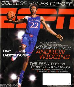 ESPN MAGAZINE NOVEMBER 11 2013 ANDREW WIGGINS KANSAS JAYHAWKS TOP 25 BASKETBALL