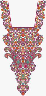 Indian Art Work Neck Embroidery Designs - Embdesigntube