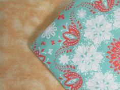 Baby Blanket Handmade Floral Print Flannel Personalized Blanket Baby Shower Gift Stroller Blanket