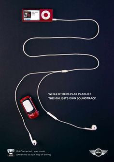 Mini Connected: iPod #publicidad gráfica. Entre en el fantástico mundo de elcafeatomico.com para descubrir muchas más cosas! #advertising