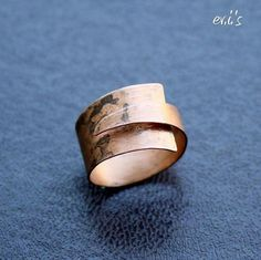 Handcrafted Copper Folded Eco Friendly by EVIsMetalworkJewelry, €18.00
