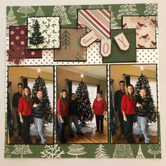 Christmas 2018 Christmas Scrapbook Layouts, Scrapbook Page Layouts, My Scrapbook, Scrapbooking Ideas, Scrapbooks, Tape, Photo Wall, My Favorite Things, Holiday