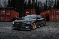 Prostate Cancer Canada's Bagged Audi S5 Coupe on Forgeline One Piece Forged Monoblock GT1 5-Lug Wheels