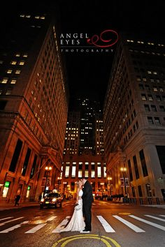 Just add snow!  - Cory and Matt - Wedding at the Rookery Building Chicago, Angel Eyes Photography