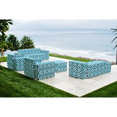 Softblock Fork Teal Chaise - Overstock™ Shopping - The Best Prices on Other Patio Furniture