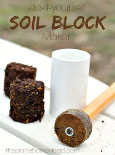 DIY soil block maker-- a homemade version of the popular soil blockers that many people are using to start their seeds.