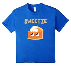 Thanksgiving Sweetie Pie Girls T-Shirt Funny Pumpkins, Kids Thanksgiving, Pie, Mens Tops, T Shirt, Clothes, Amazon, Girls, Design