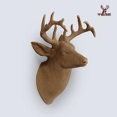 Deer Trophy     DIY Cardboard Craft by boardattack on Etsy