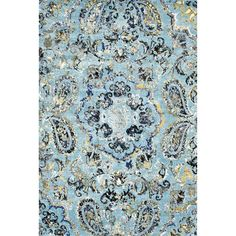 Stylishly anchor your living room seating group or define space in the den with this artfully crafted rug, showcasing a paisley-inspired.  ...