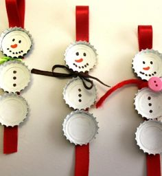 http://plombiers-paris-75.com/plombier-sarcelles-95200.html Bonhommes de neige avec des capsules - Enfants 2-12 ans