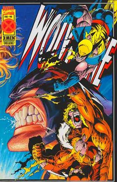 Wolverine Don't miss out! Sabretooth and Wolverine come to blows (and scratches), in a drag-out, no holds barred battle to the death. Wolvie may have gone too far, even by his own standards! Rare Comic Books, Vintage Comic Books, Vintage Comics, Comic Book Covers, Comic Book Heroes, Comic Books Art, Comic Art, Comic Book Style Art, Book Art