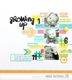 Growing Up - Scrapbook.com - Made with American Crafts supplies.