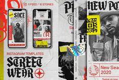 Street wear Instagram Templates by HYPER HIROⓇ on @creativemarket #socialmedia #template #handpicked Social Media Template, Social Media Design, Instagram Feed, Instagram Story, Ad Design, Graphic Design, Design Ideas, Photo Illustration, Visual Identity