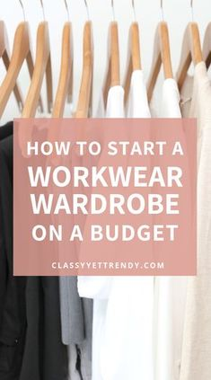 Find out how to create a starter workwear wardrobe while on a budget. 10 basic essentials outfits you'll need to wear to the office or professional workplace. Find out what items work best plus 10 clothes and shoes youll need and a few outfit ideas. Outfit Essentials, Work Wardrobe Essentials, Capsule Wardrobe Mom, Wardrobe Basics, Wardrobe Ideas, Build Wardrobe, Summer Work Wardrobe, Mom Wardrobe, Minimal Wardrobe