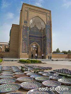 Souvenir shop near the mausoleum Gur Emir, Uzbekistan