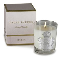 Duchess Scented Candle —Ralph Lauren Home. This smells like fresh cut roses and gardenias. Its a luxury that I will never deny myself.