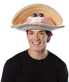 Look at this #zulilyfind! Gray & Pink Clam Hat #zulilyfinds