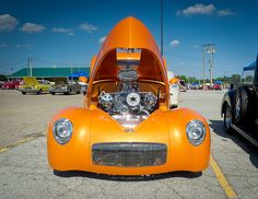 1941 Willys Americar Coupe Front View by John P Sullivan, via Flickr