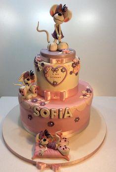 The diddline for sofia's baptism cake by Carla Poggianti Il Bianconiglio