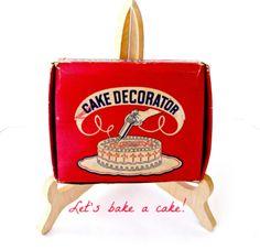 Vintage Cake Decorating Set | Etsy Cake Decorating Set, Decorating Tips, Recipe For Butter Icing, Little Red, Vintage Kitchen, Helpful Hints, Shapes, Lorraine, Etsy