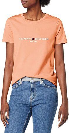 Bekleidung, Damen, Tops, T-Shirts & Blusen, T-Shirts Tommy Hilfiger Damen, Shirt Bluse, Cotton Tee, Bermuda Shorts, Organic Cotton, Tees, Fashion, Women, Clothing