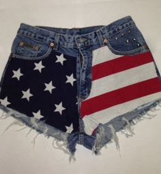 High Waisted Denim Shorts by TheHipstersParadise on Etsy, $25.00