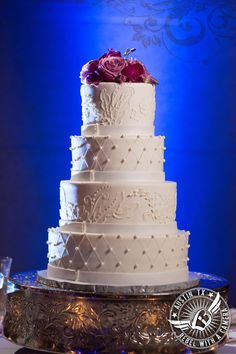 Wedding cake from The Cake Plate at the Grand Ballroom at 1900 University Avenue