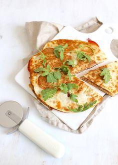 Quesadilla met tomaat en tonijn
