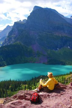Lake View in Glacier National Park, Montana United States