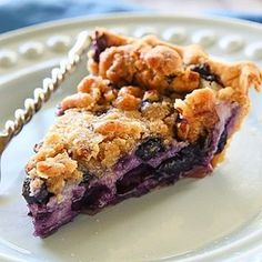 Blueberry Custard Pie - I'm not usually a blueberry Pie girl but this one stole my heart. #linkinprofile  http://ift.tt/VedHwZ