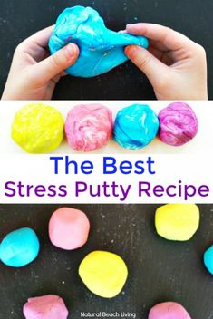 How to Make Putty - The Best Stress Putty Recipe - Natural Beach Living - How to Make Thinking Putty, The Best Stress Putty Recipe, perfect sensory play, therapy putty for s - Projects For Kids, Diy For Kids, Crafts For Kids, Art Projects, Fun Crafts, Simple Crafts, Creative Crafts, Art Therapy Activities, Activities For Kids