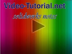"""Don't forget to check our """"New #SolidWorks 2014 Video Tutorials"""" to know something new in #SolidWork @ http://solidworks.video-tutorials.net/solidworks_2014_tutorials.html"""