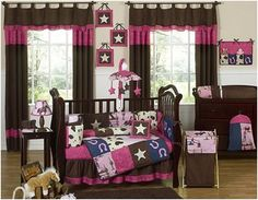 Country baby room for a girl!  Love it!