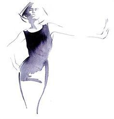Watercolour fashion illustration by Katharine Asher