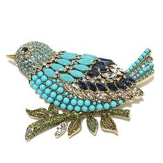 "Shop Heidi Daus ""Marquise Madness"" Crystal Bird Pin, read customer reviews and more at HSN.com."