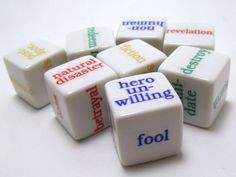 Inspiration Dice by Kim, via Kickstarter. Great for writers even if too late for #nanowrimo!