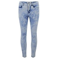 ONLY Women's Skinny Acid Wash Ankle Jeans ($49) ❤ liked on Polyvore featuring jeans, pants, bottoms, pantalon, calças, blue, blue jeans, super skinny ankle jeans, skinny leg jeans and ankle jeans